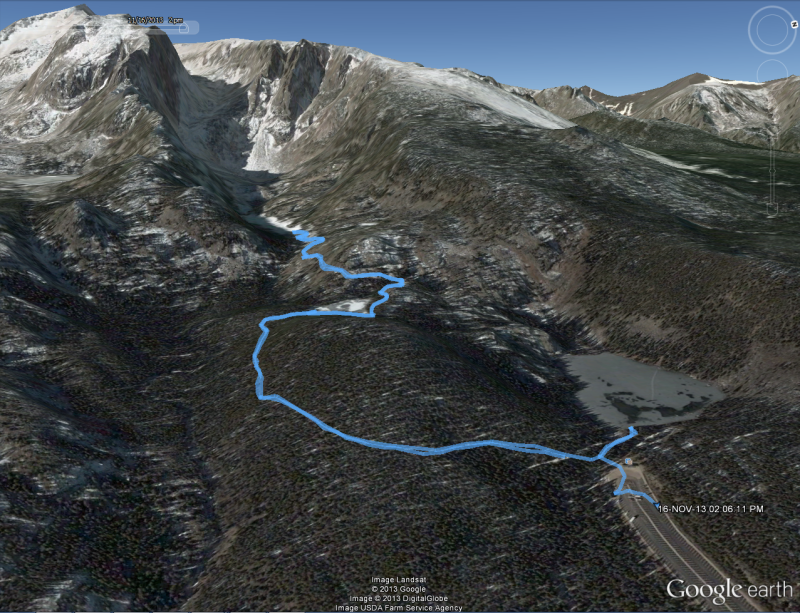 Google Earth Winter Bear Lake 2013